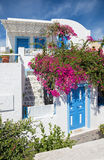 Santorini - typically little house with the flowers in Oia. Stock Photography