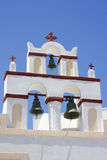 Santorini, una torretta di segnalatore acustico Fotografie Stock Libere da Diritti
