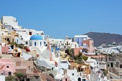 Santorini, una vista di Oia Fotografie Stock Libere da Diritti