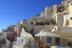 Santorini unikalni domy fotografia stock