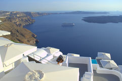 Santorini unique Caldera view Royalty Free Stock Photo