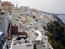 Santorini, uno de la isla visitada de Grecia fotografía de archivo libre de regalías