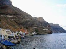 Santorini, uno de la isla visitada de Grecia foto de archivo