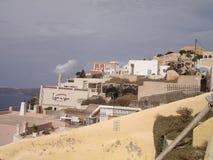 Santorini, uno de la isla visitada de Grecia foto de archivo libre de regalías