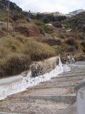 Santorini, uno de la isla visitada de Grecia imagenes de archivo