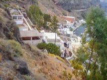 Santorini, uno de la isla visitada de Grecia imagen de archivo libre de regalías