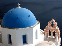 Santorini väderkvarn Arkivfoto