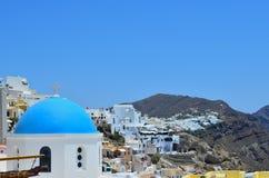 Santorini van een andere mening stock afbeeldingen
