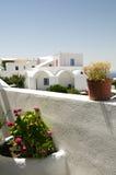 Santorini van het de architectuur Griekse eiland van Cycladen Stock Afbeelding