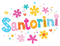 Santorini vector lettering decorative type Stock Photos