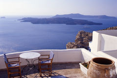 Santorini View. A view of the Aegean sea as seen from Santorini, Greece royalty free stock image