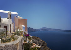 Santorini view and architecture Stock Image