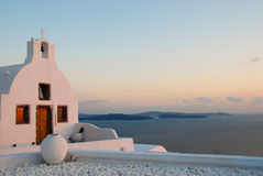 Santorini, view of the church at Oia Royalty Free Stock Images