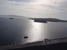 Santorini view dowtown Stock Photography