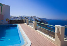 Santorini view - Greece Royalty Free Stock Photos