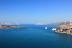 Santorini view (Greece) - travel background Royalty Free Stock Image