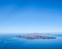 Santorini. The view on Islands from Santorini Royalty Free Stock Images