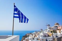 Santorini view (Oia), Greece Stock Photo
