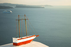 Santorini, view from Oia to the Caldera Royalty Free Stock Image