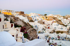 Santorini. View of Oia village with Aegeon sea, Santorini, Greece Royalty Free Stock Photography