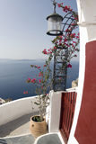Santorini view over sea Stock Image
