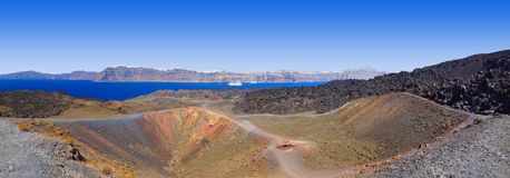Santorini view from volcano Royalty Free Stock Photo