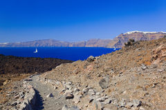 Santorini view from volcano Stock Photography