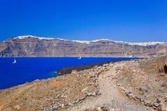 Santorini view from volcano Stock Photography