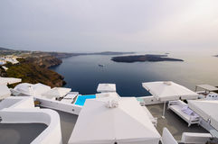 Santorini viewpoint Stock Photography