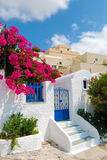 Santorini village Stock Image
