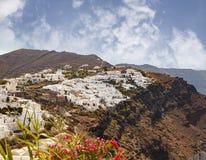 Santorini village landscape Stock Photography