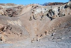 Santorini volcan Royalty Free Stock Photos