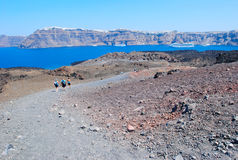 Santorini volcan Stock Photo