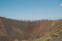 Santorini volcano Stock Photography
