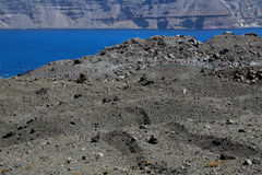 The Santorini Volcano Royalty Free Stock Photography