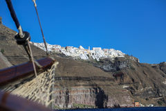 The Santorini Volcano Stock Photography