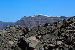 The Santorini Volcano Stock Photo
