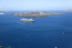 The Santorini Volcano Stock Photos