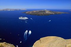 Santorini Vulkan Stockfoto
