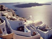Santorini-Vulkan Lizenzfreies Stockbild
