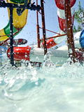 Santorini Water park in thailand. Fun land Stock Image
