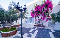 Santorini, weißes Landhaushaus Griechenland lizenzfreie stockfotografie