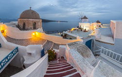 Santorini. Well known Greek view from Santorini Stock Images