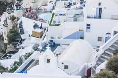 Santorini white architecture Stock Photography