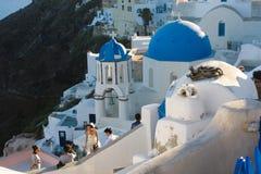 Santorini white architecture Stock Photos