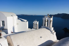 Santorini white architecture Royalty Free Stock Photography