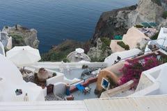 Santorini white architecture Stock Photo