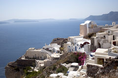 Santorini white houses in Oia Stock Image