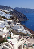 Santorini white houses in Oia Royalty Free Stock Photography