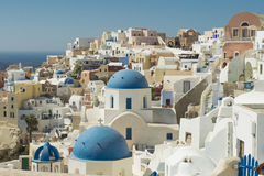 Santorini white houses Stock Photo